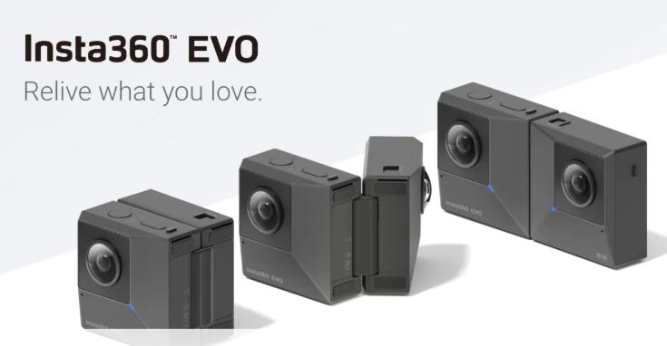Insta360 EVO: fotocamera pieghevole per scattare foto sferiche e 3D