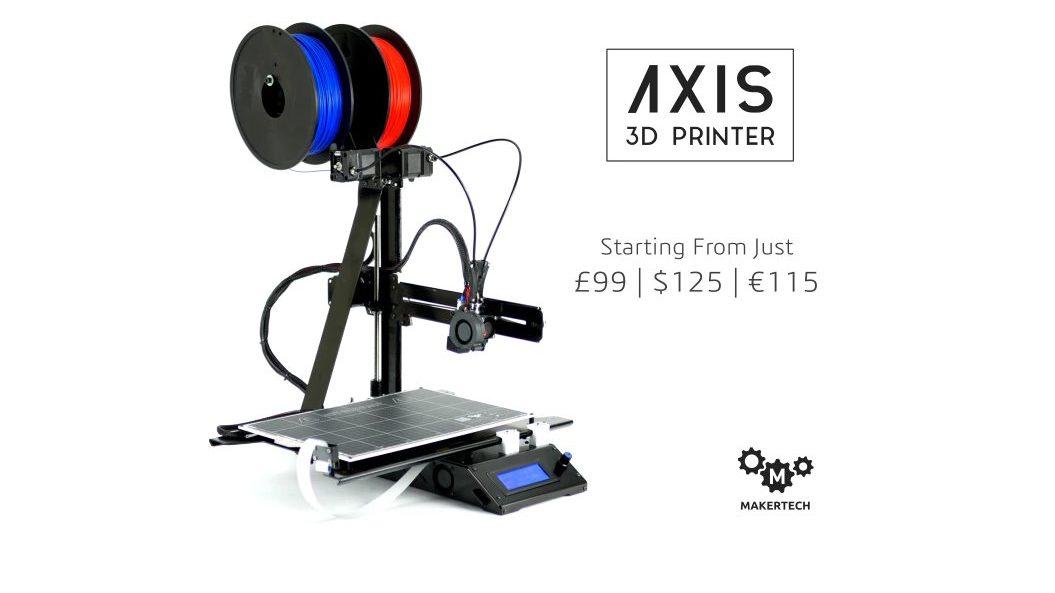 Axis 3D: per chi cerca una stampante 3D a due colori e low-cost