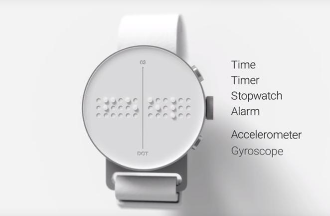 Dot: uno smartwatch in Braille per non vedenti