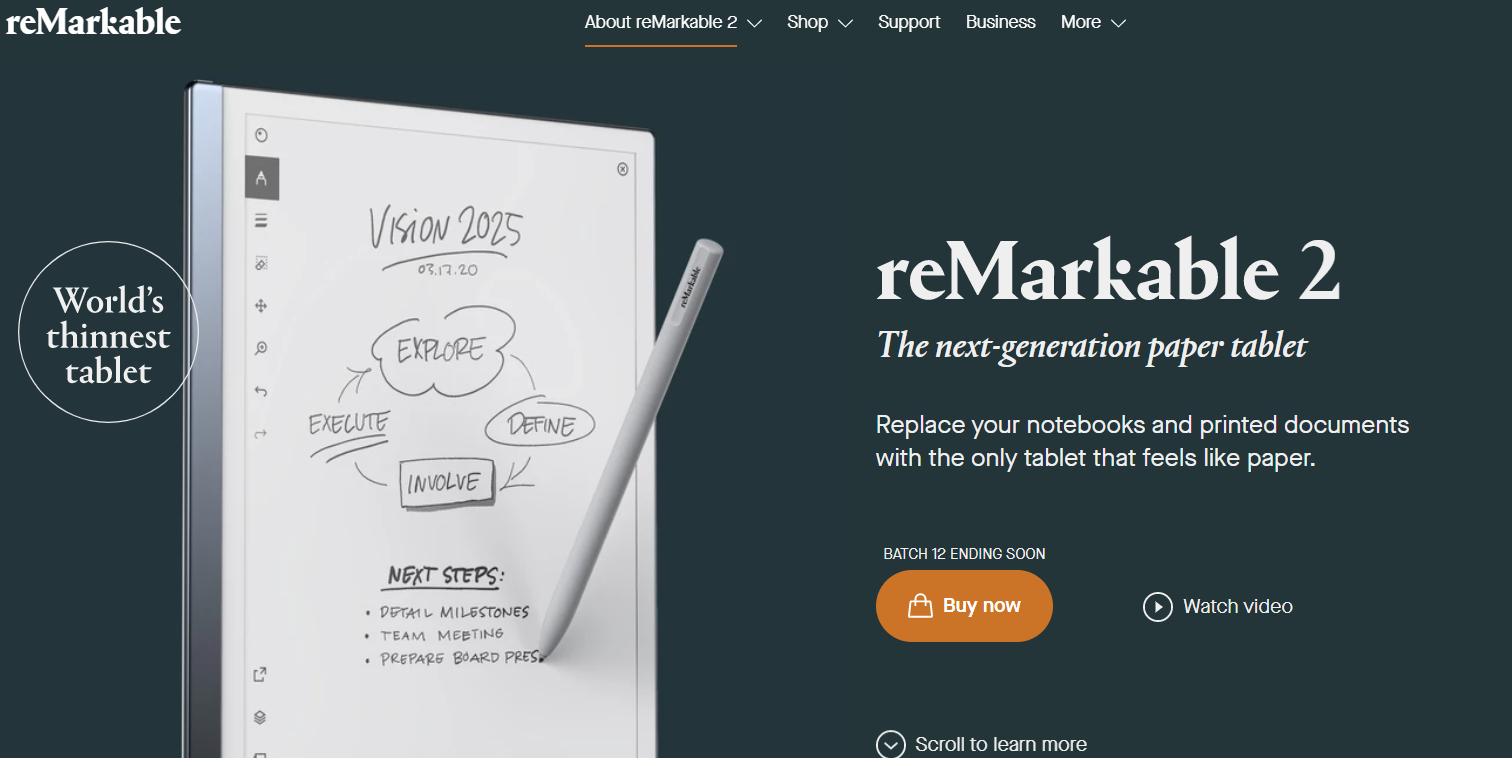 reMarkable: il tablet monocromatico ideale per prendere appunti a mano