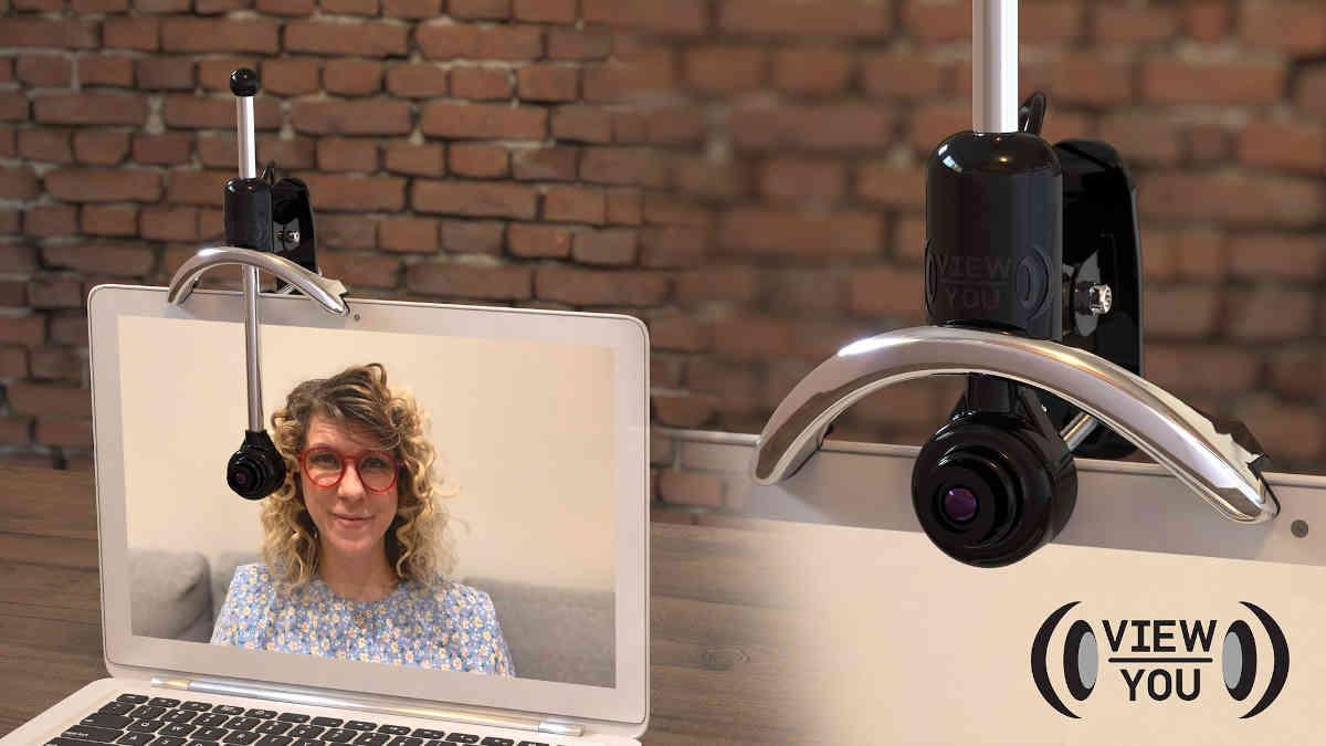 View-You Cam: una webcam di altezza regolabile per mantenere il contatto visivo